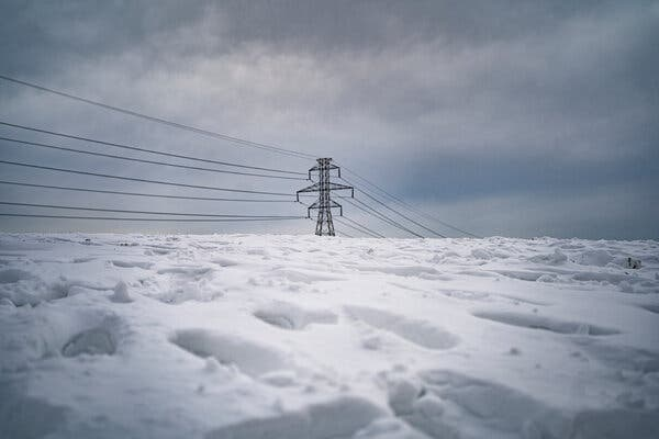 Power is still out for many as sleet, snow and ice shut down Dallas, Texas.