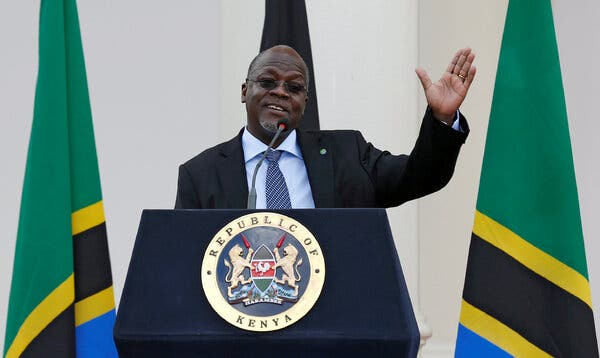 President John Magufuli of Tanzania in 2016. Having cast doubt on coronavirus vaccines and other measures to curb the spread of the pandemic, he is now changing course.
