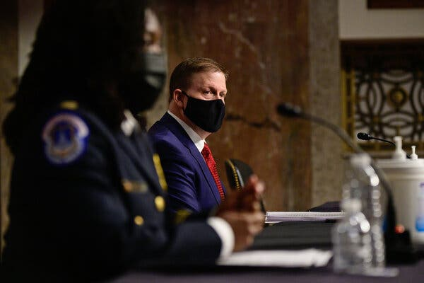 The joint meeting of two Senate committees was the first time the public has heard former Capitol Police Chief Steven A. Sund, one of the top security officials at the Capitol on the day of the assault last month.