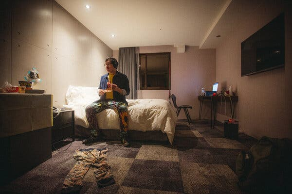 Pete Lee had to quarantine at the Roaders Hotel in Taipei, Taiwan, upon his arrival from San Francisco.