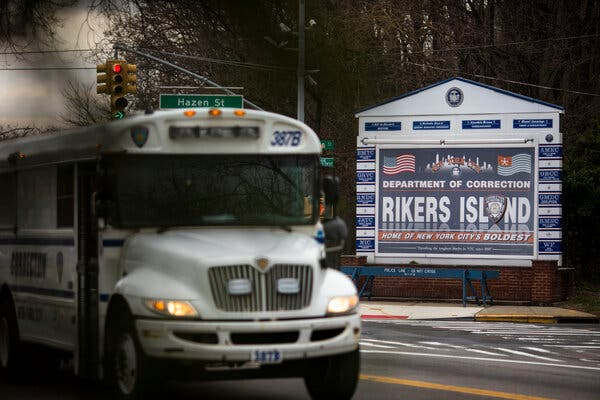 Hundreds of people were released from Rikers Island last March as the virus spread. But the population inside has crept back up.