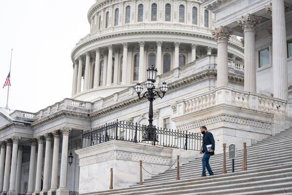 Senator Mitt Romney of Utah left the Capitol after a vote on Thursday.