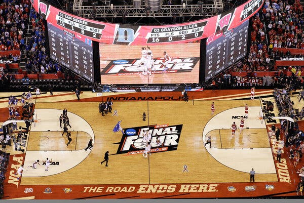 Lucas Oil Stadium in Indanapolis last hosted the Final Four of the men's N.C.A.A. tournament in 2015.