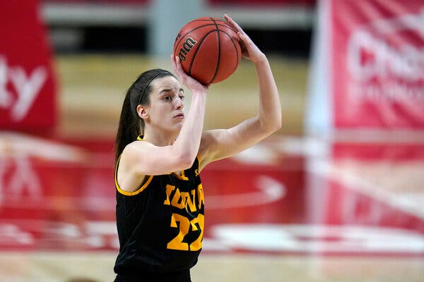 Caitlin Clark of Iowa has attempted more 3-pointers this season than any other Division I women's player.