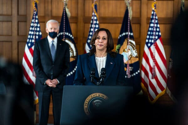 """""""This is not about getting rid of the Second Amendment. It's simply about saying we need reasonable gun safety laws,"""" said Vice President Kamala Harris."""