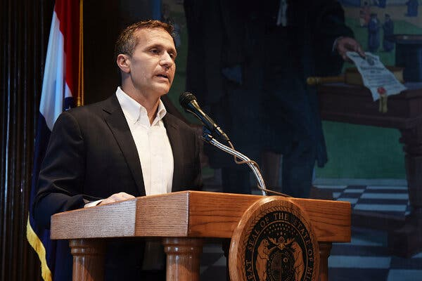 Eric Greitens, who resigned as governor of Missouri in 2018 amid accusations of physical and sexual abuse, is running for an open Senate seat.