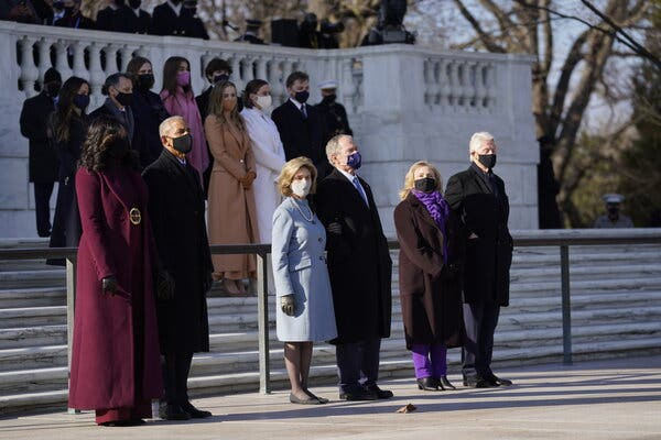 The Obamas, the Bushes and the Clintons at the inauguration of President Biden. They appear together in a new ad campaign.