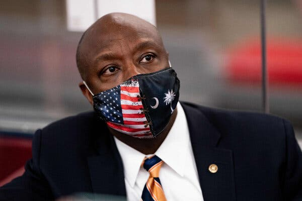 Senator Tim Scott was chosen to deliver the G.O.P. rebuttal by the party's top leaders.