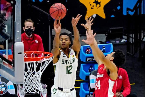 Jared Butler broke out in the first half for Baylor against Houston.