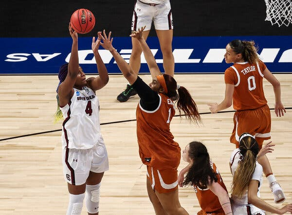 South Carolina's Aliyah Boston will be part of an intriguing battle of bigs when her team meets Stanford on Friday night in the Final Four.