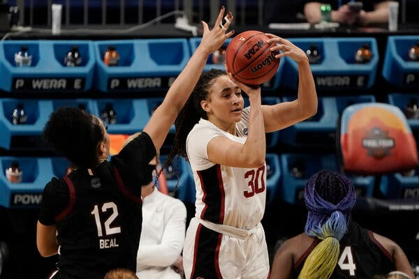 Haley Jones hit a shot in the final minute to reclaim the lead for Stanford.