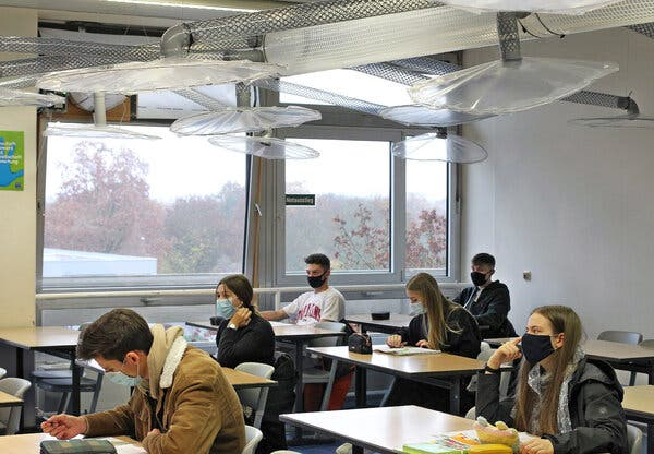A ventilation system installed in a classroom Germany last November has proved to remove more than 90 percent of virus-carrying aerosols from the classroom. As a group of scientists called for new workplace air quality improvements, they contended the measures would not be onerous.