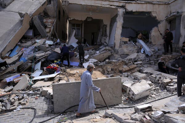A house in Gaza that was bombed by Israel on Monday.