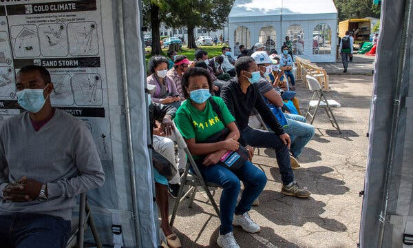 Health care workers waited to receive the AstraZeneca vaccine in Antananarivo, Madagascar, last week. The world is nowhere close to having enough vaccine.