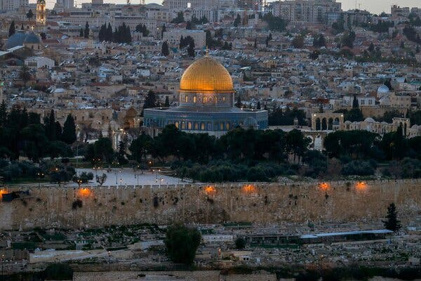 The Aqsa Mosque compound in Jerusalem.