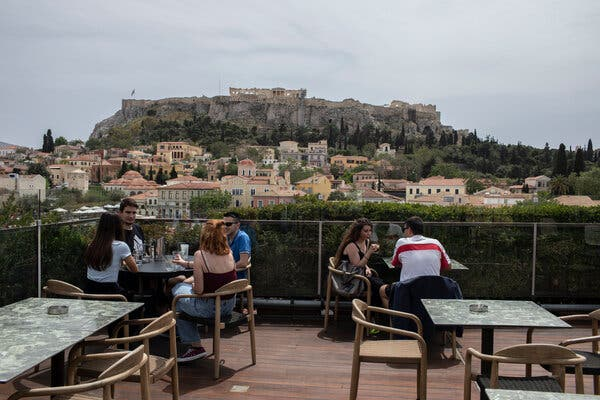 Cafes and restaurants have reopened in Greece for sit-down service for the first time in nearly six months.