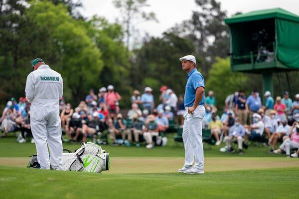 The American golfer Bryson DeChambeau at the Masters tournament in Augusta, Ga., in April.
