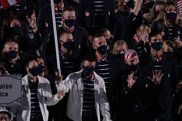 The United States during the Opening Ceremony on Friday