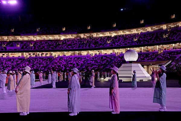 The Olympic flame was extinguished at the end of the closing ceremony.