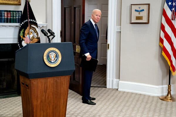 President Biden said on Sunday that his administration might extend his Aug. 31 deadline for withdrawing from Afghanistan.