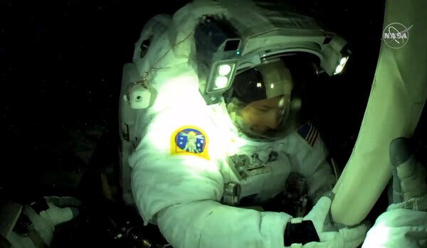 The astronaut Shane Kimbrough spoke from the International Space Station.